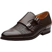 Dapper Shoes Co. Men's Toe Cap Double Monk Strap Modern Classic Dress Shoes