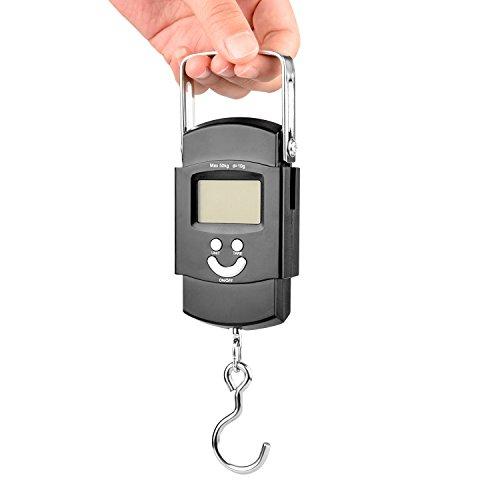 デジタル吊り下げ秤 50kgs(フィッシングスケール 計量器...