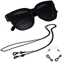 Xiang Ru Stainless Steel Cord Neck String Glasses Chain Eyeglass Sunglass Spectacles Chain Holder Strap with Anti-slip Rings