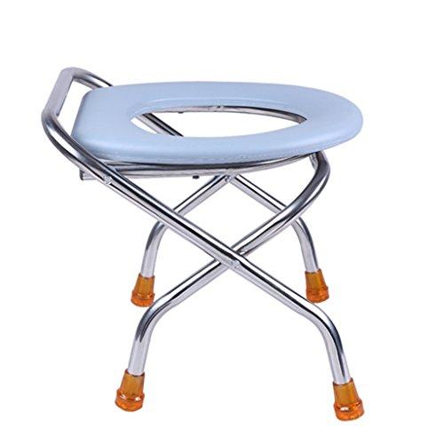 パッド入りのトイレ椅子に座っている妊娠中の女性障害のあるトイ...