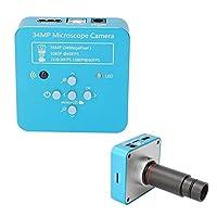 HDMI顕微鏡カメラ、34MP USB2.0デジタル顕微鏡産業用顕微鏡カメラビデオ顕微鏡セット100-240V、1920x1080p解像度-デジタルズームをサポート(私たち)