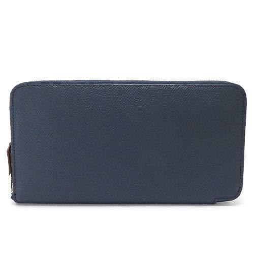 [エルメス] 長財布 ラウンドファスナー シルクイン ブルーアンクル ネイビー系 C刻印 AZAP SILKIN [並行輸入品]