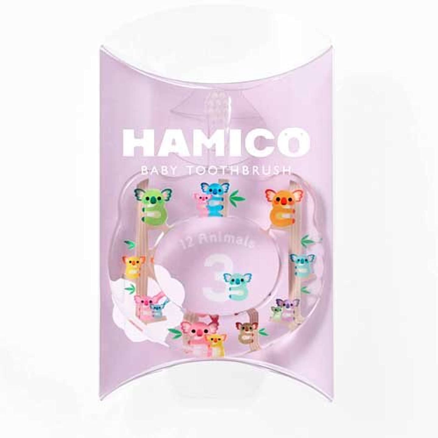 細い弾丸大学院HAMICO(ハミコ) ベビー歯ブラシ 「12 Animals(12アニマルズ)」シリーズ コアラ (03)