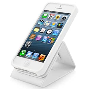 CAPDASE 日本正規品 iPhoneSE / 5s / 5 Folder Case Upper Classic, White フォルダーケース アッパー・クラシック(スタンド機能つき), ホワイト FCIH5-UC22