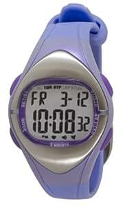 [クレファー]CREPHA 心拍計付きデジタル腕時計 消費カロリー表示 カウントダウンタイマー付き 10気圧防水 パープル TS-D012-PU レディース