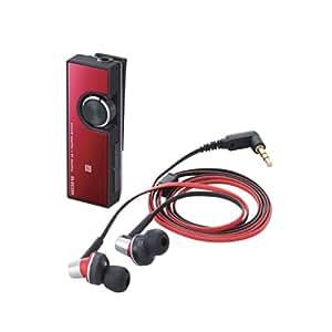ELECOM エレコム iPhone6s/6s Plus対応 Bluetooth レシーバ デュアルアンプ搭載 class1 ヘッドセット付 NFC機能搭載 レッド LBT-PHP500AVRD
