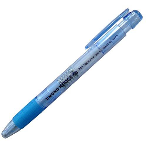 トンボ鉛筆 MONO ホルダー消しゴム モノノック3.8パック JCA-111A 透明ブルー