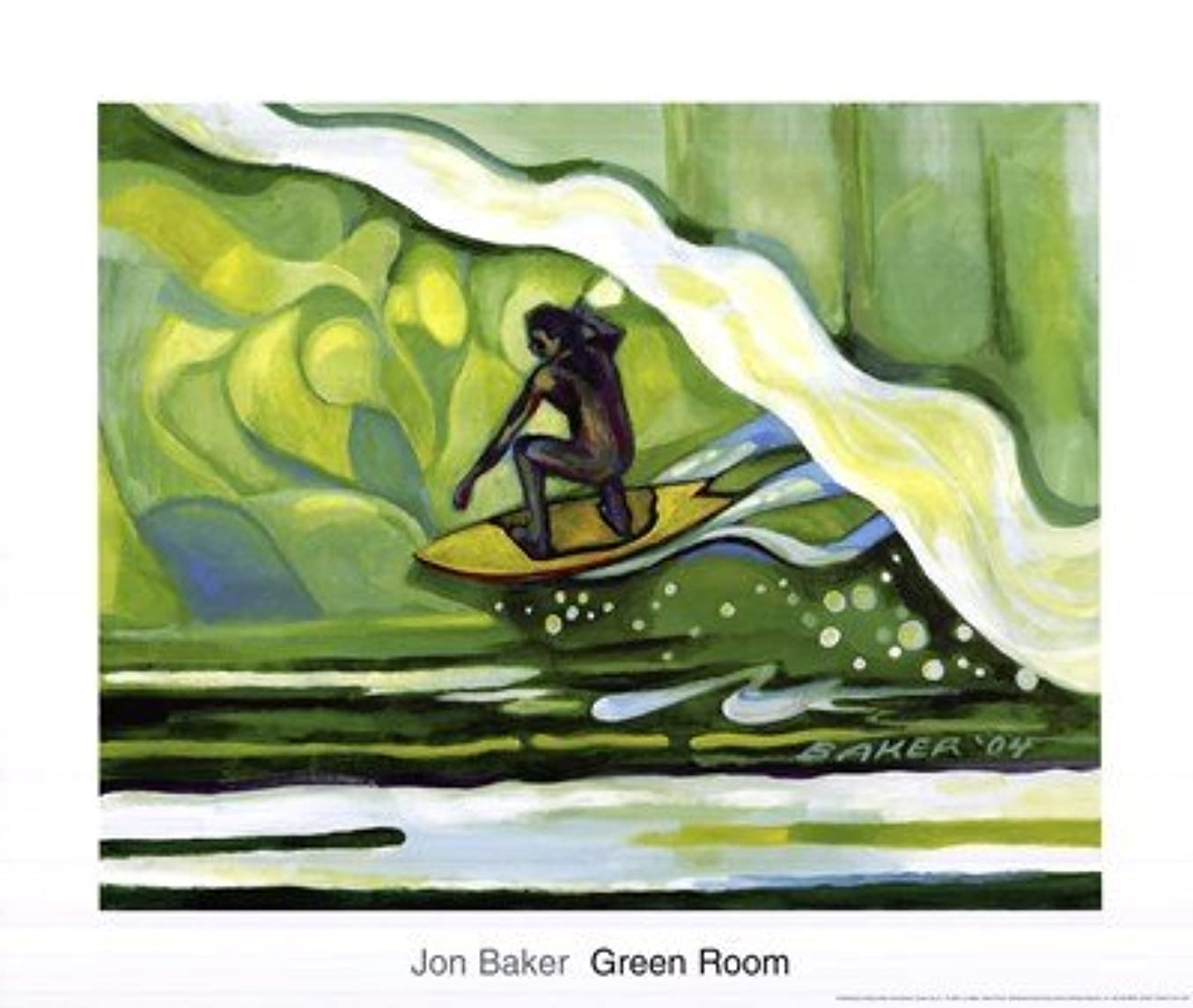 乱雑なレンダリング崖Green Room by Jon Baker – 24 x 20インチ – アートプリントポスター LE_219315
