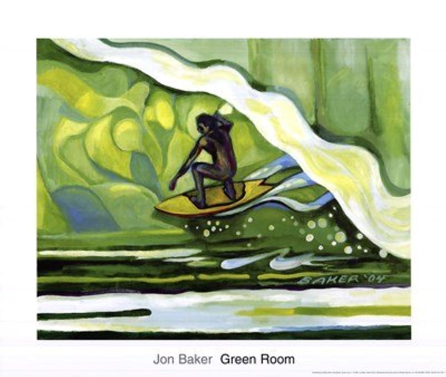 ドット必需品むちゃくちゃGreen Room by Jon Baker – 24 x 20インチ – アートプリントポスター LE_219315