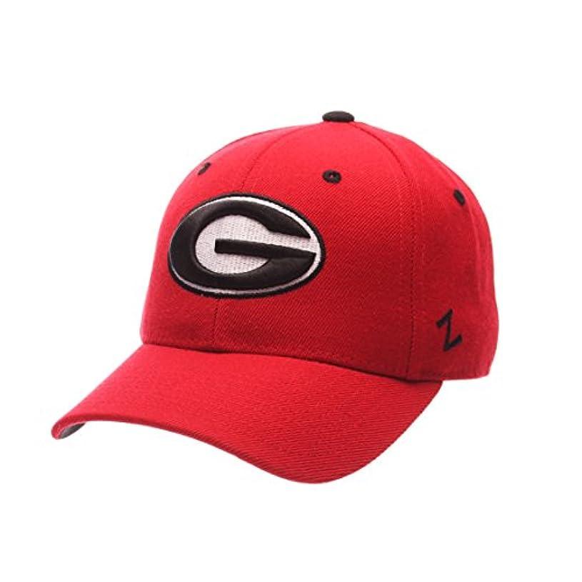 勝者差別葉を集めるZephyr Georgia Bulldogs DH Fitted Hat