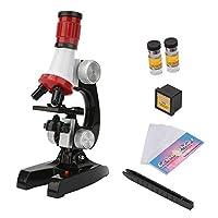 子供顕微鏡 キッズチルドレン生物顕微鏡キット教育科学初心者顕微鏡おもちゃ 知育・学習玩具
