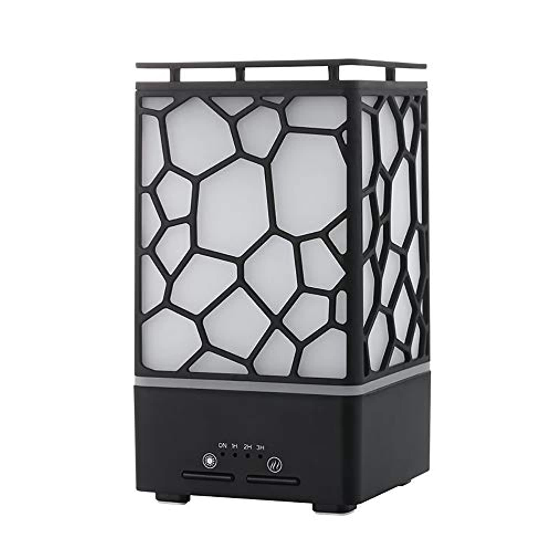 JOLLY アロマディフューザー超音波加湿器アロマディフューザー6色LEDライトヨガ、スパ、リビングルーム、オフィス、ホームに最適 (色 : ブラック)