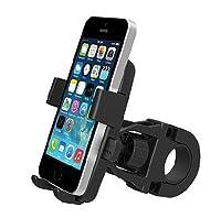 iMeshbeanバイク電話マウント自転車ホルダー、ユニバーサルCradleクランプfor iOS AndroidスマートフォンGPSその他のデバイス、ワンタッチリリースwith、360度回転可能、ゴム製ストラップ