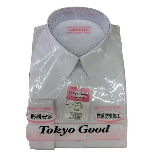 スクールシャツブラウス 女子Yシャツタイプ 形態安定 (150A(S), 長袖)