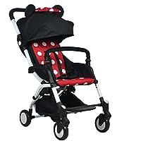 赤ちゃんベビーカー軽量ベビー傘を置くことができますショックアブソーバは、飛行機に乗ることができます折り畳み可
