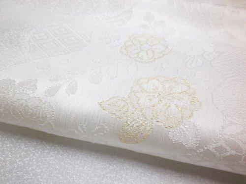 留袖用正絹帯揚げ帯上げ単品金糸縫い取り刺繍白