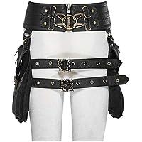 Women Retro Punk Style Waist Belt Bag Vintage Girls PU Leather Pouch Antique Crossbody Bag