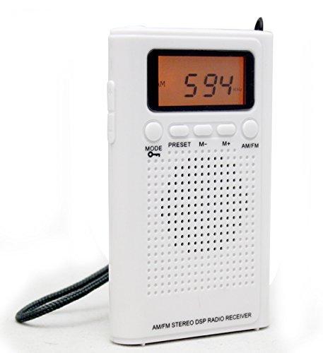 薄型FM/AMハンディーポータブルポケットラジオⅡ~アラーム...