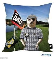 父の日ギフトミーアキャットゴルフデザインクッションで作られたヨークシャー素晴らしいギフトのアイデアお父さんゴルファー