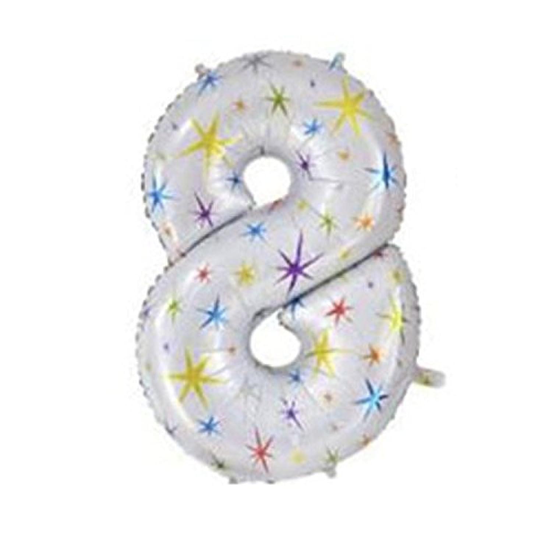 yuzuyu_shop 超BIGサイズ 40インチ 数字 バルーン 誕生日 記念 カウントダウン アルミ風船 ナンバー イベント パーティ 結婚 星 スター (8)
