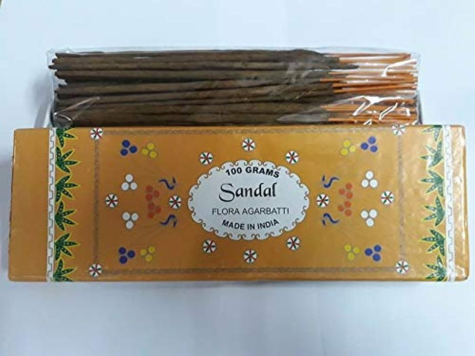 お酒確立アコードSandal (Chandan) サンダル Agarbatti Incense Sticks 線香 100 grams Flora Incense Agarbatti フローラ線香