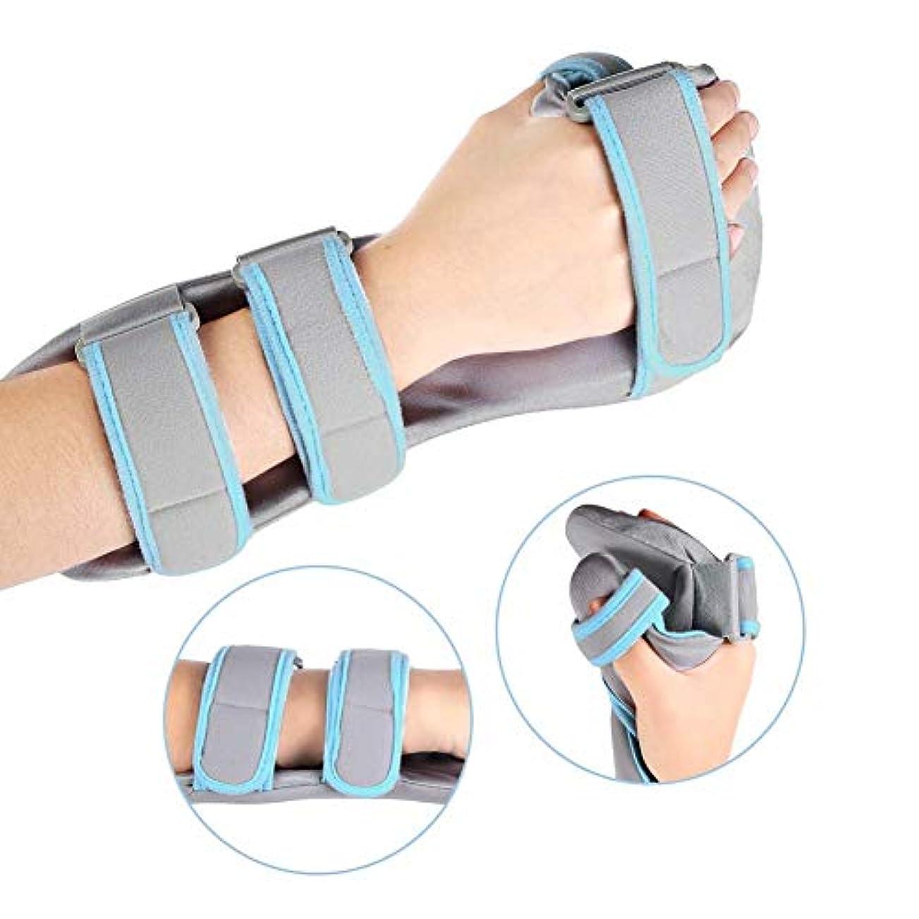 地中海震えしわ手首のサポート、手根管、骨折、捻rain、関節痛の軽減のための調節可能な通気性の手のサポート,Right,S