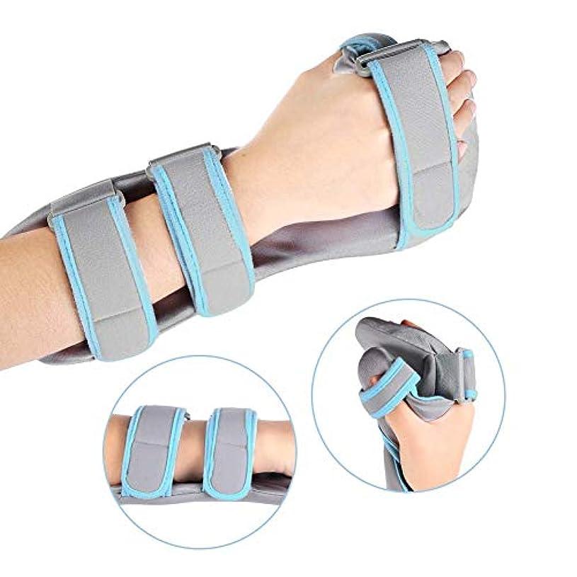 手首のサポート、手根管、骨折、捻rain、関節痛の軽減のための調節可能な通気性の手のサポート,Right,S