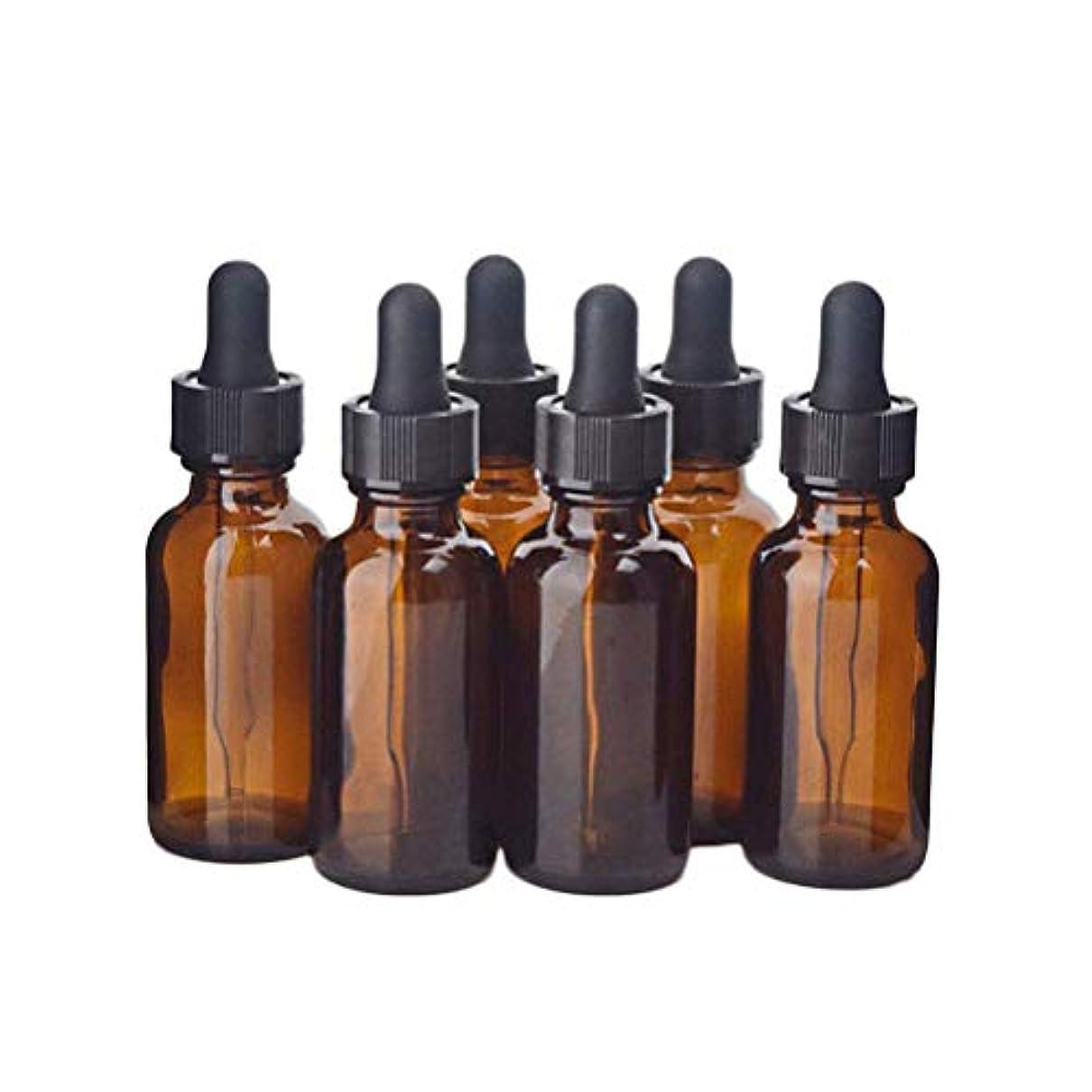 傾いた手足専ら遮光瓶 アロマオイル 精油 香水やアロマの保存 小分け用 遮光瓶 30ml 12本セット茶色