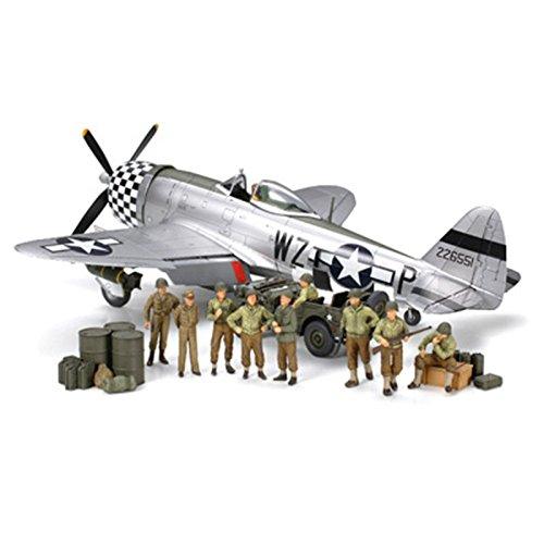 1/48 アメリカ歩兵休息&P-47Dセット