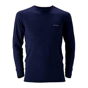 (モンベル)mont-bell スーパーメリノウールM.W.ラウンドネックシャツ Men's 1107235 NV ネイビー S