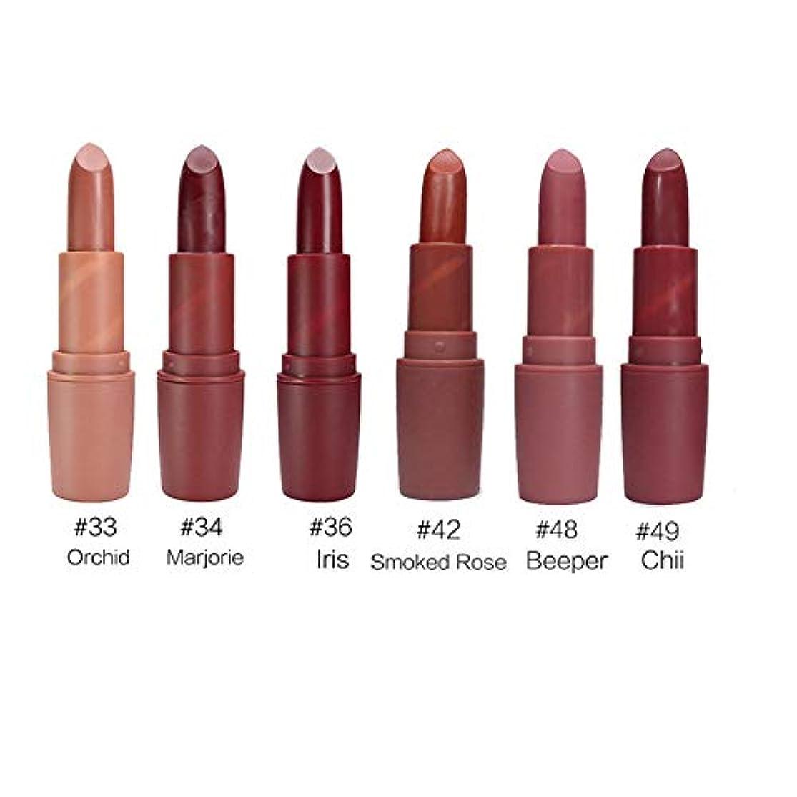 論争の的最愛のシャッフル6 ピース/セット口紅長期的な防水マットベルベット口紅メイク化粧品の新到着美容メイクアップ口紅