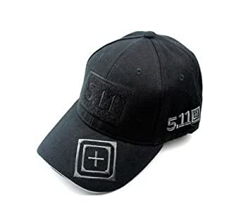 5.11 キャップ ブラック タクティカル 帽子 黒 No2
