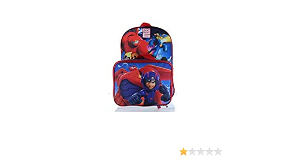 """Disney Big Hero 6 Large 16/"""" backpack /& Lunch Box BRAND NEW Licensed Product"""