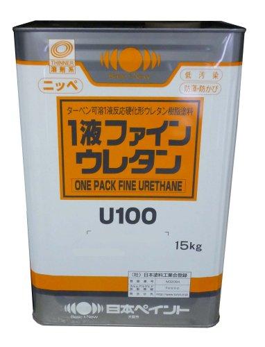 日本ペイント 1液ファインウレタンU100シャニングリーン 15kg