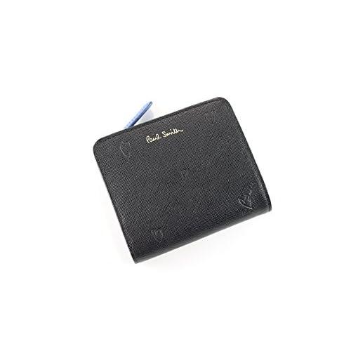 ポールスミス 財布 レディース 折り財布 スミシーハート W803 ブラック pauls488