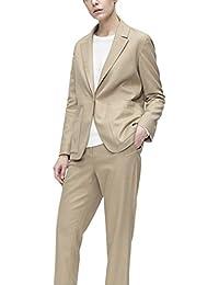 スーツ レディース パンツ セット 通勤 ストレッチ 日常 ブラウン 無地 おおきいサイズ 新着