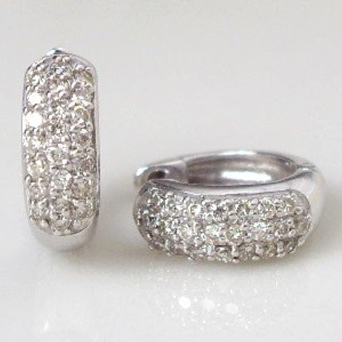 伝統強制息切れ[ラグジュエリー][Lugejewelry]K18 0.3ctダイヤモンドパヴェフープピアス 透明感溢れるダイヤモンド メンズ K18PG(ピンクゴールド) [ジュエリー]【ラッピング対応】