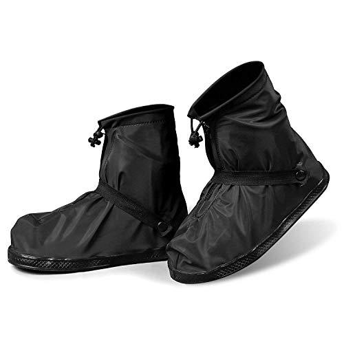 シューズカバー 防水 雨 靴カバー 自転車 梅雨対策 雪 シューズ レインカバー 泥避け 男女兼用 通勤通学 携帯可 お手入れ簡単 滑り止め 使い捨てシューズカバー2足付