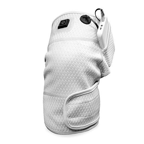HIIMIEI 膝サポーター、加熱膝パッド 電動 温度 調節 可能 4000 Mah モバイル 電源 パッド を 用い た 長距離 水泳 傷害 疼痛 緩和 ( 3 温度 設定 )