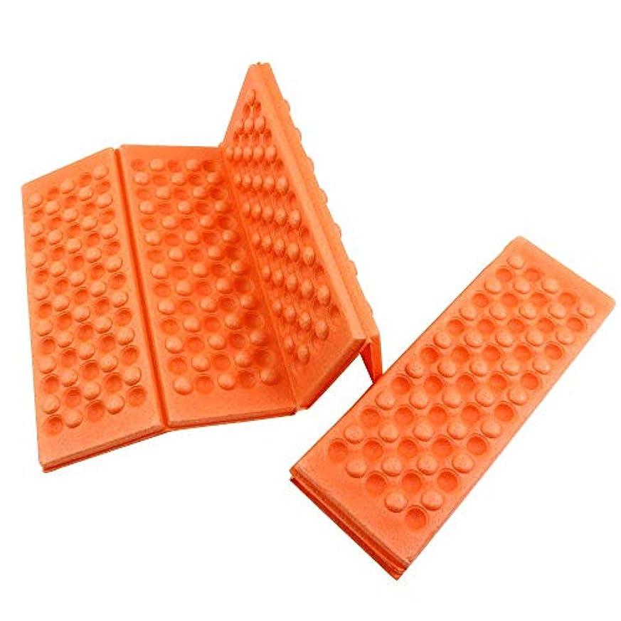 部分的にサーマルジーンズクッション折り畳み座布団 防水 断熱 レジャーの必需品,オレンジの