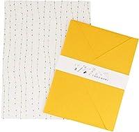 加藤紙器製作所 レターセット イエロー×ビーズ 16×20.5cm LET-305-YEL