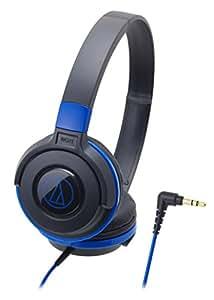 audio-technica STREET MONITORING 密閉型オンイヤーヘッドホン ポータブル ブラックブルー ATH-S100 BBL