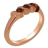 英国製(イギリス製) K10 ピンクゴールド 天然 ガーネット レディース リング 指輪 各種 サイズ あり