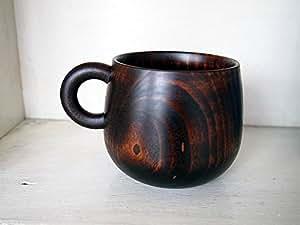 シェーヌ・ドゥ マグカップ トチの木をくりぬいたマグカップ 毎日の食卓に天然素材の心地よさを感じて心で喜んでもらう日本の安心の木製品 Oak Village/オークヴィレッジ