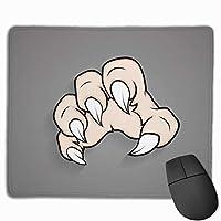 マウスパッド 手 爪 怖い グレー ゲーミング オフィス最適 おしゃれ 疲労低減 滑り止めゴム底 耐久性が良い 防水 かわいい PC MacBook Pro/DELL/HP/SAMSUNGなどに 光学式対応 高級感プレゼント Tartiny