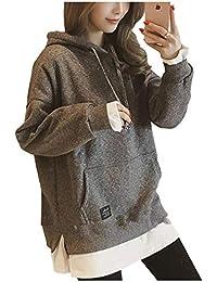 [パリド] 薄手 裏起毛 パーカー 無地 フード 付き アウター レディース M~3XL