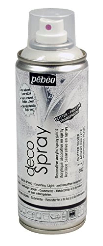 Pebeo 水性アクリルスプレーペイント デコスプレー 200ml グリッター色 NO.892シルバーグリッター