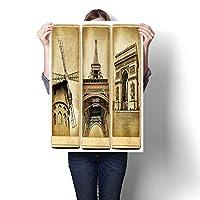 モダンペインティング 夜のパリのシャンプ エリゼ 絵画、ホームデコ キャンバス上の油絵(フレームなし) 28 x 48inch(70x120cm)/1pc