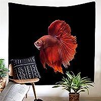 アート抽象的な潜水艦魚フリースフリースポリエステルタペストリーシーツブランケットデジタル印刷壁画掛けテレビの壁壁ホーム掛け布団寝室居間アート壁の装飾 (Color : 006, Size : 200cm*150cm)