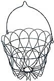 クレエ ハンギング ワイヤープランターバスケットL ブラック 91550003